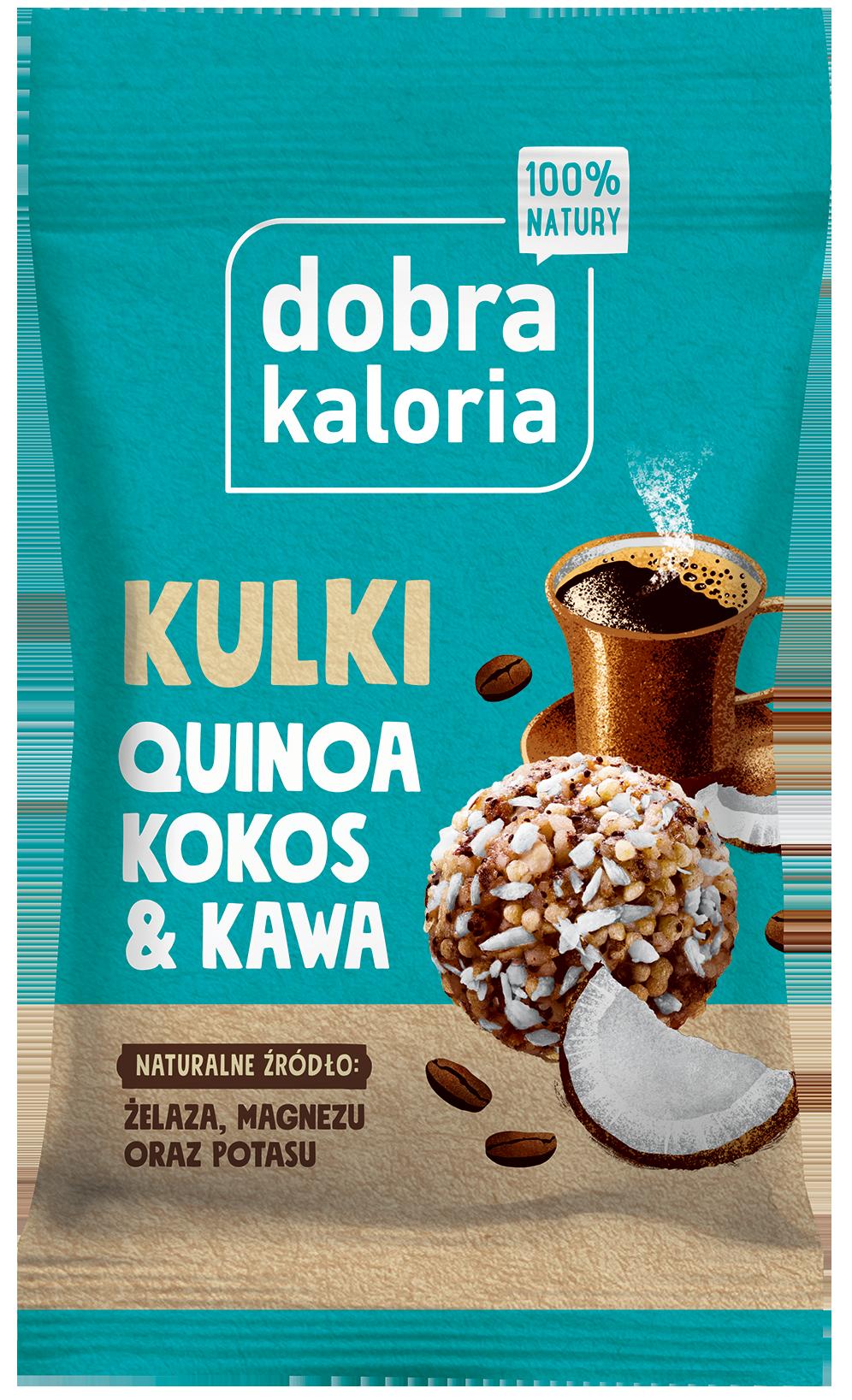Przekąska kokosowa z komosą i kawą